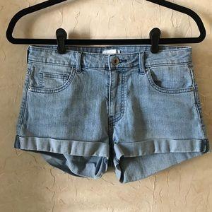 Mid Rise Denim Short Shorts